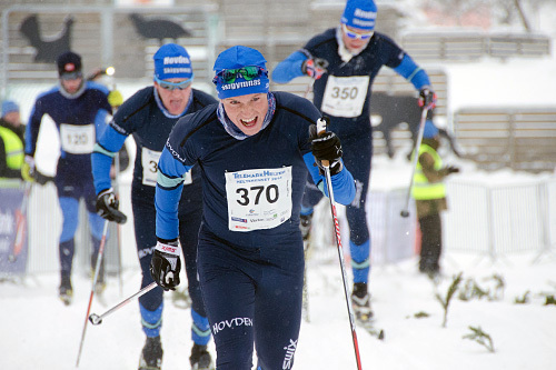 Gaute Kvåle spurter inn til seier i HelteRennet 2014. Foto: Magnus Tjønn.