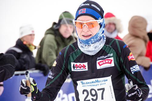 Brita Cecilie Mustad vant HelteRennet 2014. Foto: Magnus Tjønn.