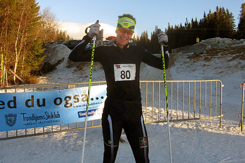 Kristian Tettli Rennemo etter seieren i Markatrimmen 2014. Foto: Gaute Myhre.