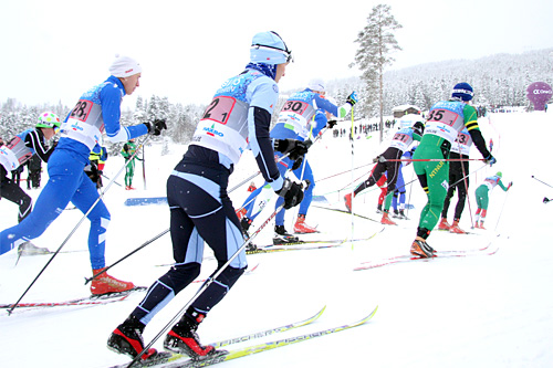 Illustrasjonsbilde fra NM del 1 på Lillehammer 2014, som også var en del av Norgescupen. Foto: Geir Nilsen/Langrenn.com.
