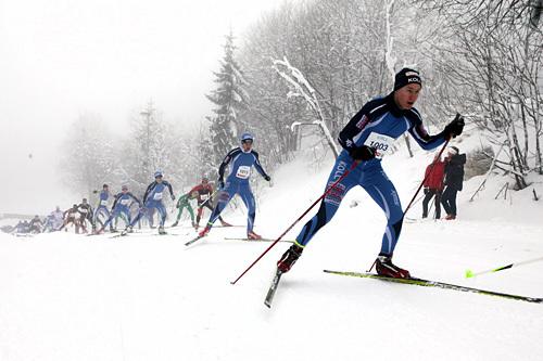 Kolls Sigmund Langedal Breivik var den raskeste i pulja for junior og senior på Kollmila 2014. Arrangørfoto.