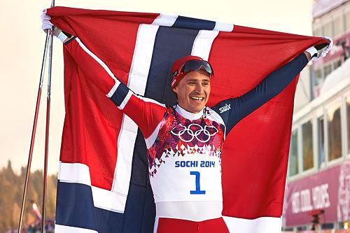 Ola Vigen Hattestad jubler etter at han ble olympisk mester i sprint i Sotsji 2014. Foto: NordicFocus.
