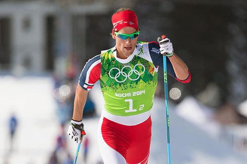 Chris Jespersen gikk andre etappe i stafetten under OL i Sotsji 2014. Norge ble nummer fire. Foto: NordicFocus.
