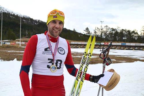 André Haugsbø vant Tverrfjelldilten 2015. Her etter 2014-utgaven som han også toppet. Foto: Margunn Hjelmeset.