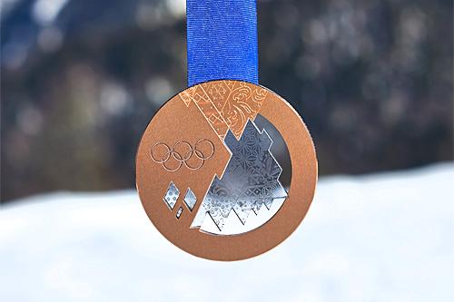 Gullmedalje fra OL Sotsji 2014. Foto: NordicFocus.