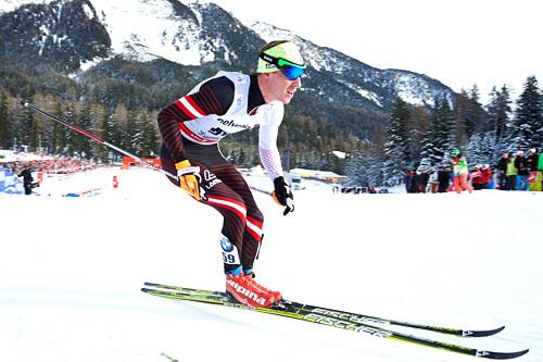 Johannes Dürr underveis i Tour de Ski 2013-2014, hvor han totalt endte på 3. plass. Foto: Felgenhauer/NordicFocus.