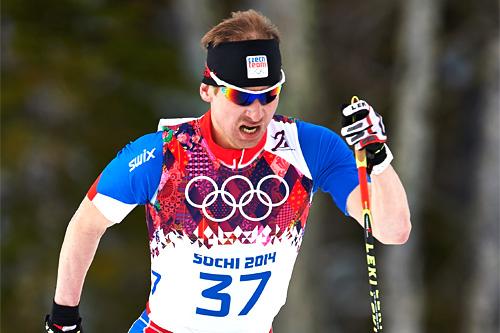 Lukas Bauer underveis på 15 kilometer i Sotsji-OL 2014. Foto: NordicFocus.