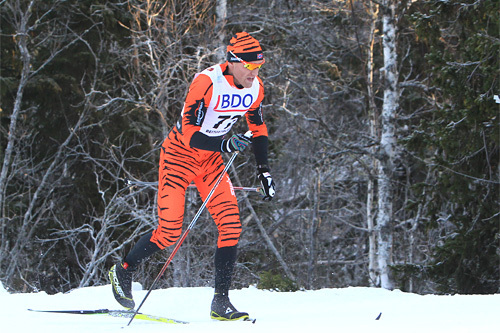 Audun Laugaland underveis på 15 kilometer klassisk under Beitosprinten 2013. Foto: Erik Borg.