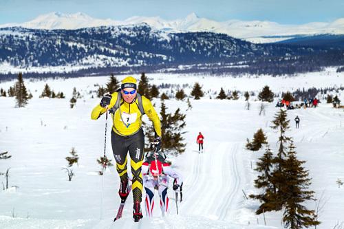 Geir Strandbakke er en av de trofaste sliterne som stiller år etter år i Lillehammer Troll Ski Marathon. Foto: Geir Olsen.