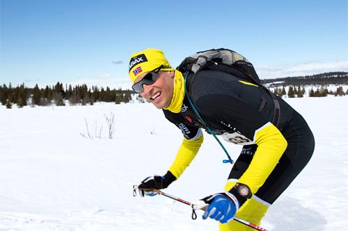 Kjetil Hagtvedt Dammen på vei mot overlegen seier i Lillehammer Troll Ski Marathon 2013. Her er han like ved Pellestova. Foto: Geir Olsen.