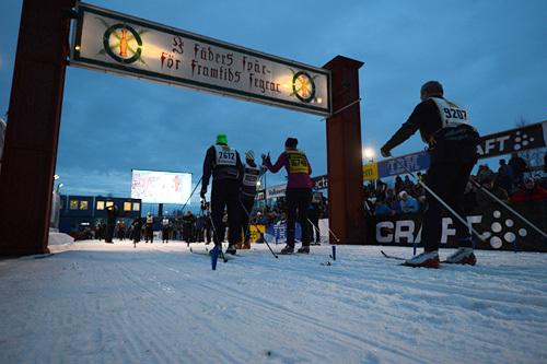 Den magiske målstreken for Vasaloppet blir flyttet. Foto: Rauschendorfer/NordicFocus.