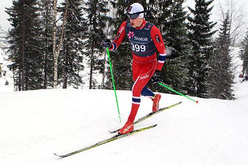 Erling Fagerbakke Fosse vant rulleskirennet i klassisk stil under Bergsdalen Opp 2015. Her fra junior-NM på Mo i Rana der han ble mester i yngste juniorklasse på 10 km klassisk. Foto: Erik Borg.