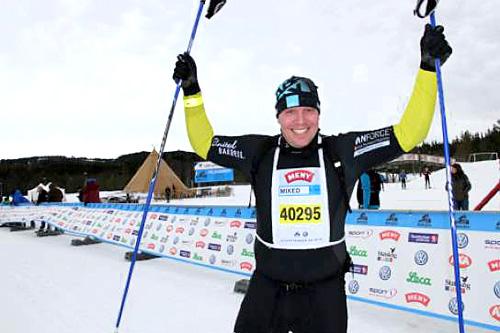 Frode Sjølander gikk avslutningsetappen da ABAX vant StafettBirken 2014. Foto: Kristin Roset/Birken.