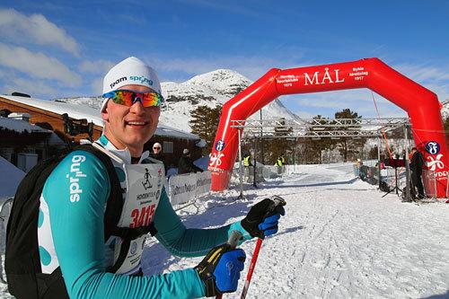 Vinner av HovdenTour 2014, Ole Holbæk fra Spring Ski. Arrangørfoto.