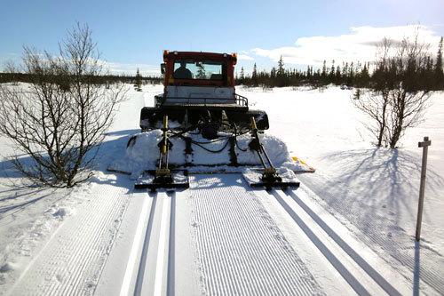 Løypa foran Vardfjelløpet 2014. Arrangørfoto.