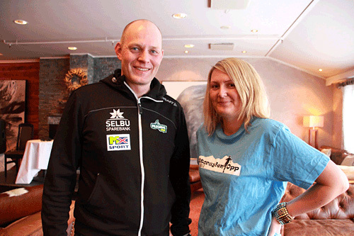 Håkon Wang fra Pilegrimsrittet og Mari Aas fra Storsylen Opp er klar å utfordre mosjonister og eliteutøvere til en tøff dobbel fra og med sesongen 2014. Arrangørfoto.