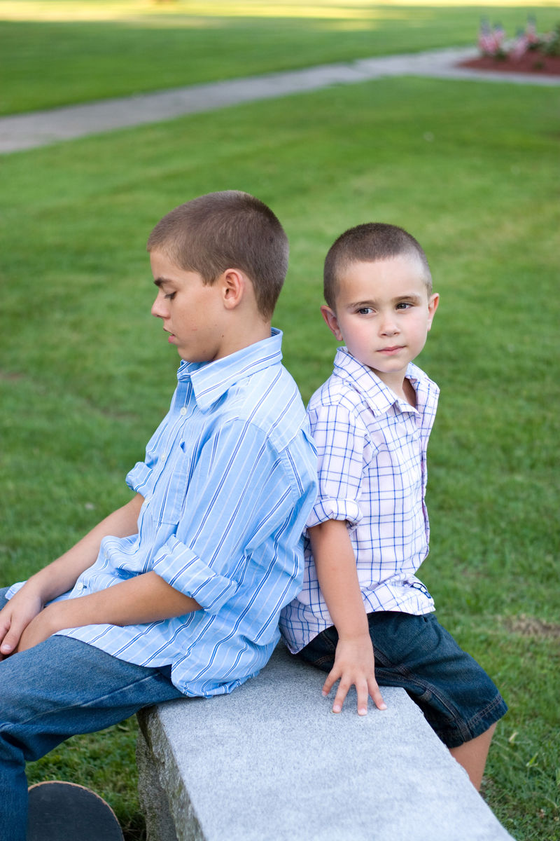 Two Boys Sitting