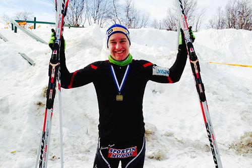 Vinneren av Saami Ski Race heter Heikki Korpela. Arrangørfoto.