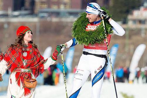 Daniel Richardsson gikk til topps i Årefjällsloppet 2014. Foto: Magnus Östh/Swix Ski Classics.