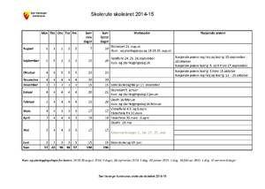 Skolerute 2014-2015 Sør-Varanger kommune