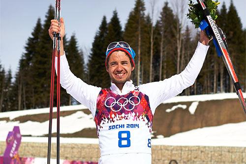 Ilia Chernousov sikret seg en OL-bronse da lekene i Sotsji 2014 avrundet med 50 kilometer fellesstart i fri teknikk. Foto: NordicFocus.