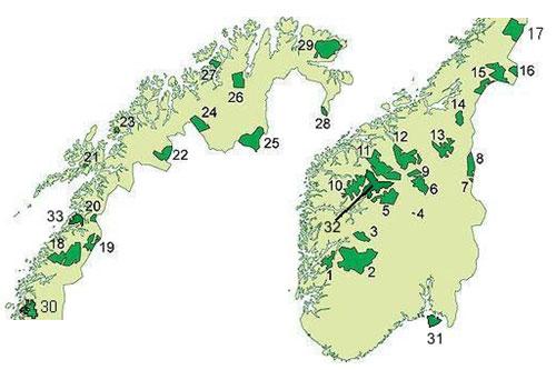 kart nasjonalparker norge Innom alle nasjonalparker på 80 dager kart nasjonalparker norge