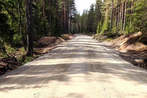 Militærveien ligger klar for deltakerne i LandeveisBirken. Foto: Birken AS.