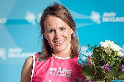 Inger Liv Bjerkreim Nilsen fra Team United Bakeries vant ungdomscupen i Swix Ski Classics 2014. Foto: Magnus Östh.