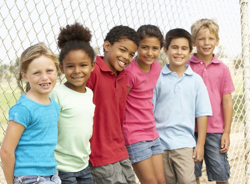 Gruppe skolebarn