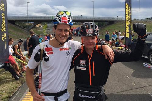 Sindre Odberg Palm (t.v.) og vinner Martin Thon. Foto: Claes-Tommy Herland.