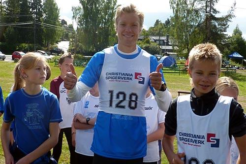 Lagleder Eirik Brandsdal klar for start i stafett under Multisportuka på Kjelsås. Arrangørfoto.