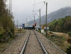 Gammel jernbaneovergang som skal legges ned