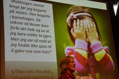 Plakat om mobbing m Lund