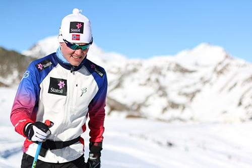 Johan Hoel på samling med rekruttlandslaget i Val Senales. Foto: Birk Eirik Fjeld.