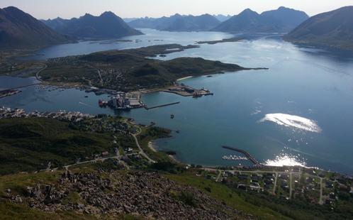 Myre havn sett fra Myrtind august 2014