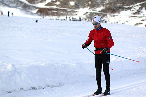 Sondre Turvoll Fossli på samling med landslaget i Val Senales høsten 2014. Foto: Birk Eirik Fjeld.