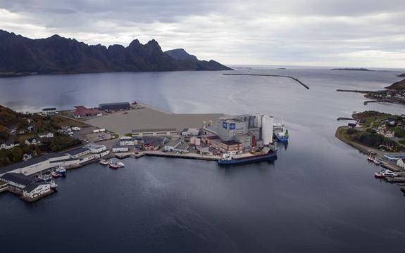 Oversikt over den planlagte utbyggingen i Myre havn