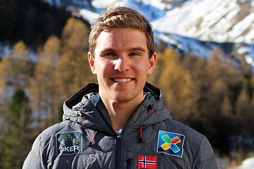 Didrik Tønseth på landslagssamling i Val Senales høsten 2014. Foto: Birk Eirik Fjeld.