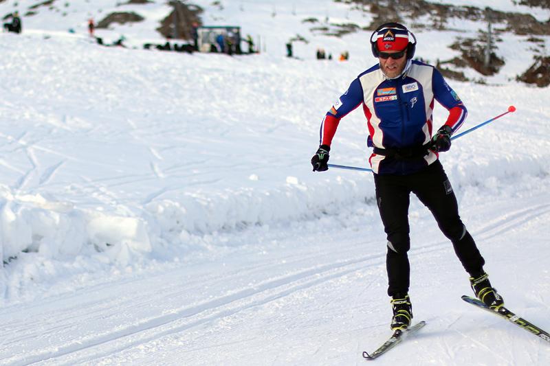 Martin Johnsrud Sundby på landslagssamling i høyden i Val Senales en tidligere høst. Foto: Birk Eirik Fjeld.