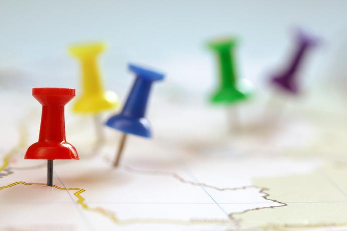 Illustrasjonsfoto over kart