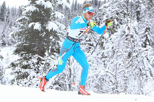 Per Kristian Nygård på vei inn mot 9.-plass i åpningsrennet 10 km klassisk på Beitostølen 2014. Foto: Erik Borg.