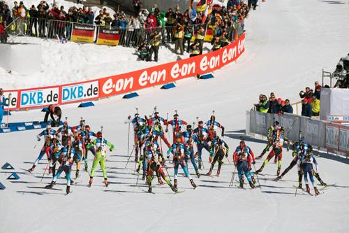 Illustrasjonsbilde fra verdenscupen i Pokljuka forrige vinter. Foto: Manzoni/NordicFocus.