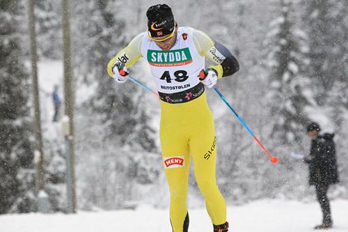 Johan Kjølstad pigget hele veien til en 3.-plass på den klassiske sprinten under Beitosprinten 2014. Her er han underveis i prologen der han leverte sjuende beste tid. Foto: Erik Borg.