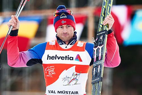 Petter Northug ble nummer to på sprinten i Val Müstair og sikret dermed sin sammenlagtledelse etter tre av sju etapper i Tour de Ski 2015. Foto: Felgenhauer/NordicFocus.