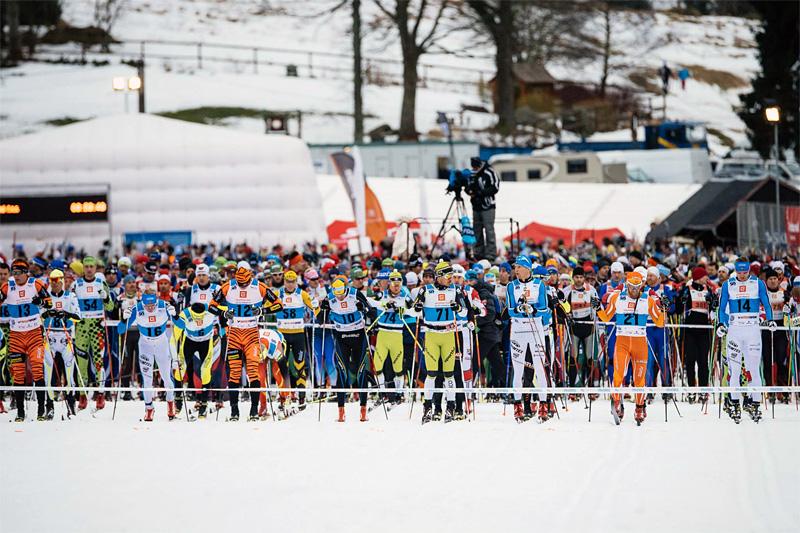 Rett før herrenes start i Jizerska 2015. Foto: Magnus Östh/Ski Classics.