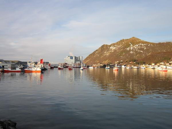Båter i Myre havn