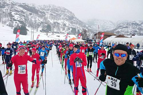 Illustrasjonsbilde fra Sirdal Skimaraton. Arrangørfoto.
