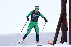 Astrid Uhrenholdt Jacobsen leverte suverent beste etappetid av ankerkvinnene på NM-stafetten. Her på vei mot 4. plass på 10 km fristil under NM på Røros 2015. Foto: Geir Nilsen/Langrenn.com.