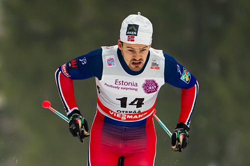 Sondre Turvoll Fossli under verdenscupen i estiske Otepää 2015. Foto: Laiho/NordicFocus
