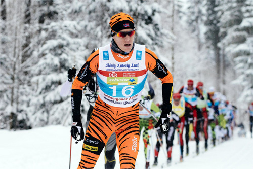 Petter Eliassen underveis i König Ludwig Lauf 2015, der han tok sin første seier i langløpscupen Swix Ski Classics. Foto: Magnust Östh/Swix Ski Classics.